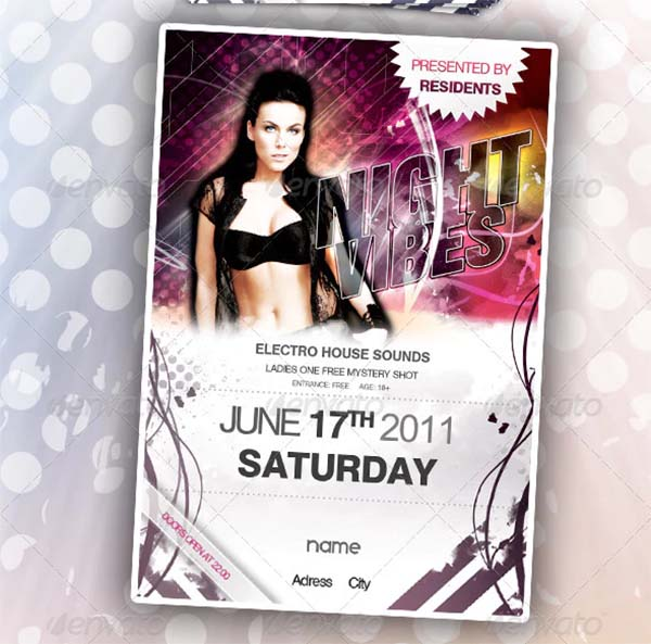 Club Disco Party Flyer Template