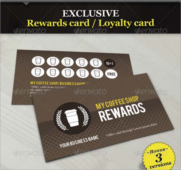 Coffee Shop Rewards Loyalty Card Template