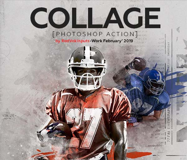 Collage Photoshop Action