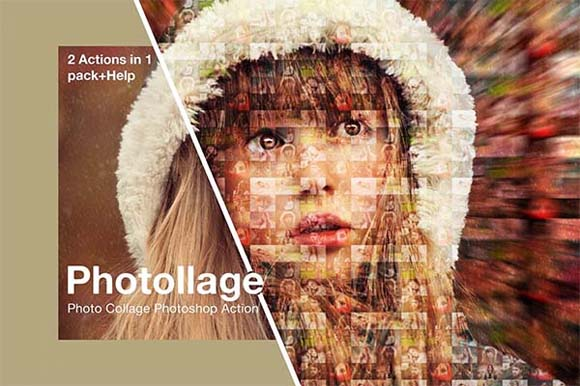 Collage Photoshop Actions