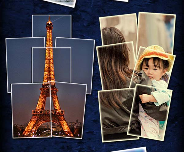 Collage TIFF, PSD, JPG Single Image Actions