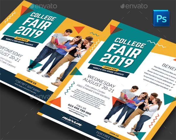 College Campus Fair Flyer Template