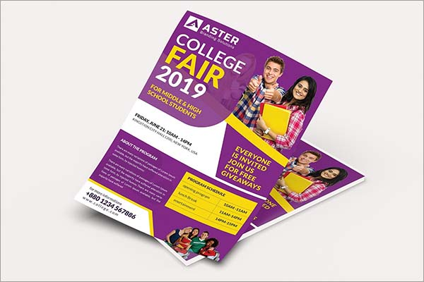 College Fair Flyer Template PSD