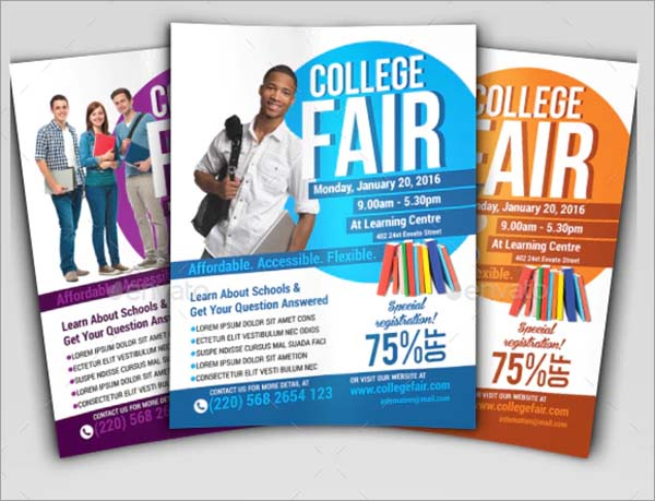 College Fair PSD Flyer