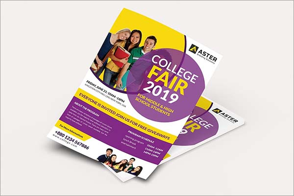 College Fair Photoshop Flyer