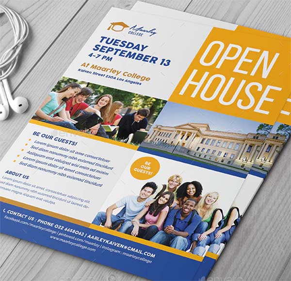 College Open House Fair Flyer