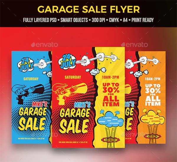 Color Garage Sale Flyer Template