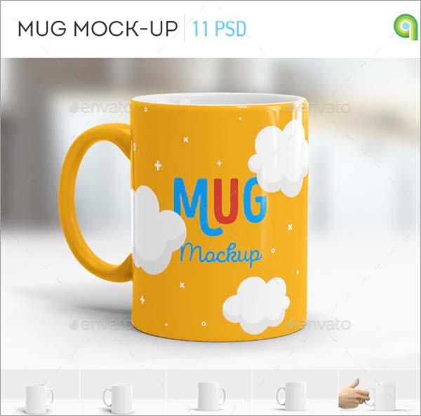 Color Mug Mockup
