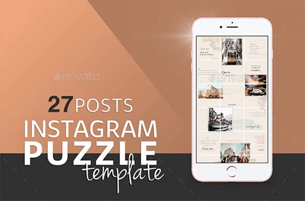 Colorful Instagram Puzzle Template