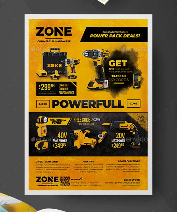 Commercial Product Flyer Template