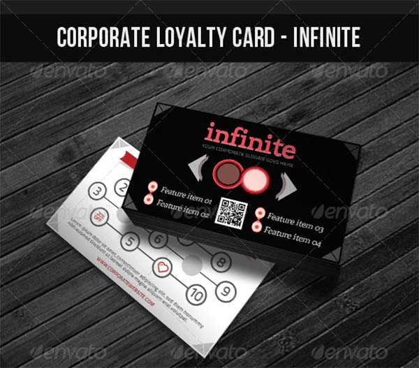 Corporate Loyalty Card PSD Template