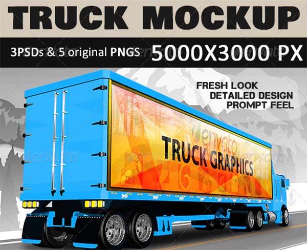 Corporate Truck Mockup