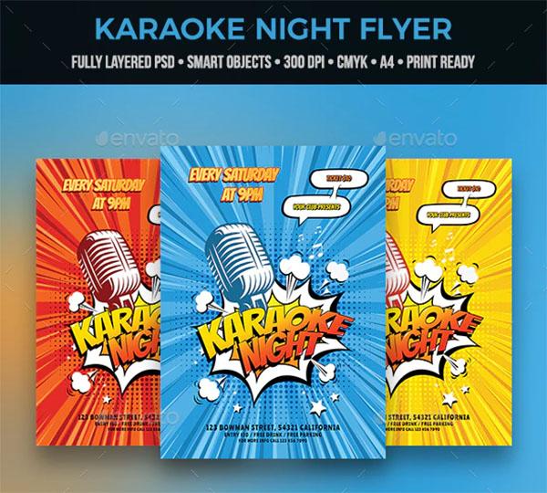 Creative Karaoke Flyer