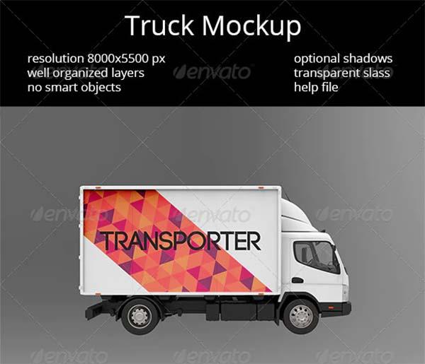 Creative Truck Mockup