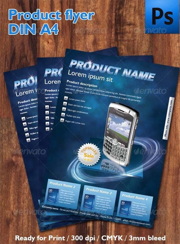 DIN Product Flyer Template