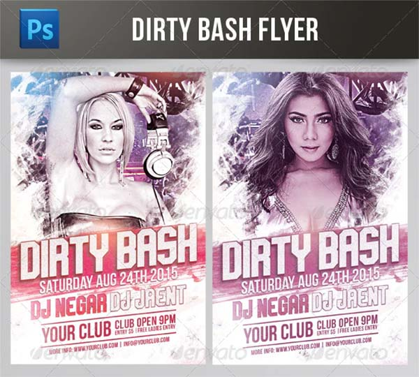 Dirty Bash Flyer Template