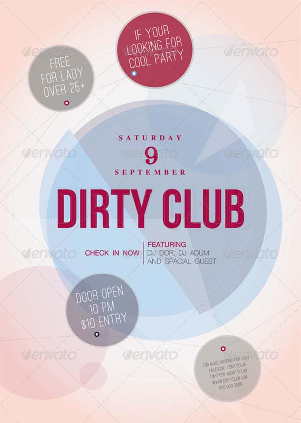 Dirty Club Flyer Template