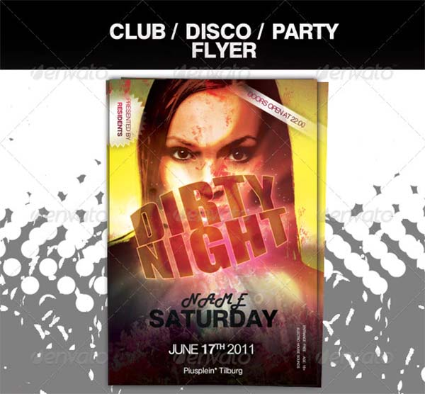 Dirty Club Party Flyer Template