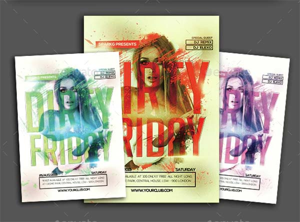 Dirty Friday Party Flyer Template