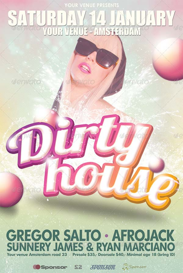 Dirty House Flyer Template