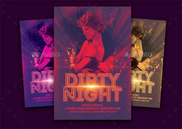 Dirty Night Party Flyer Design