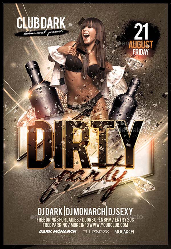 Dirty Party Flyer PSD Template