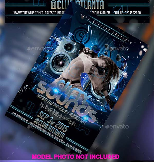 Dirty Sound Flyer Template