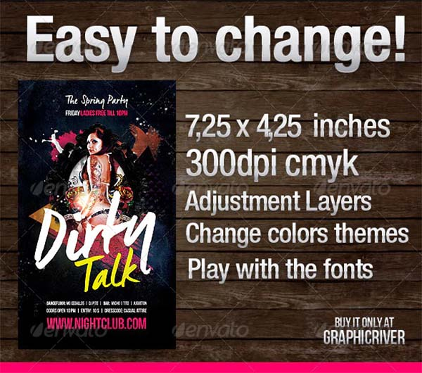 Dirty Talk Flyer Template