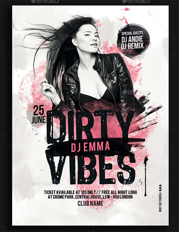 Dirty Vibes Party Flyer Template