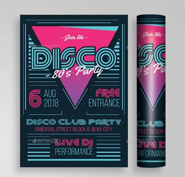 Disco Illustrator Flyer Template