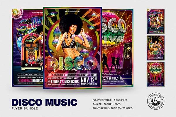 Disco Music Flyer Bundle