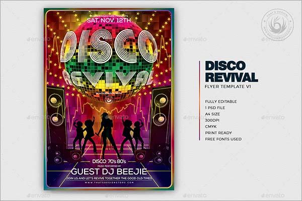 Disco Revival Flyer Template