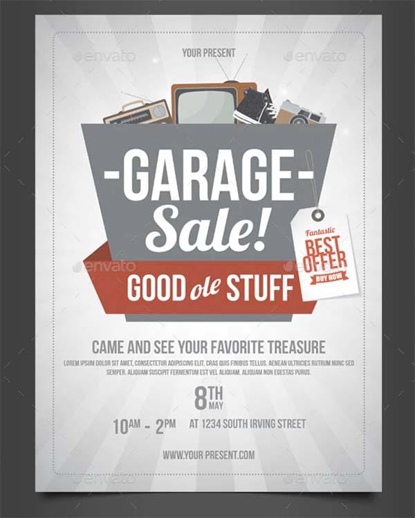 Driveway Garage Sale Flyer