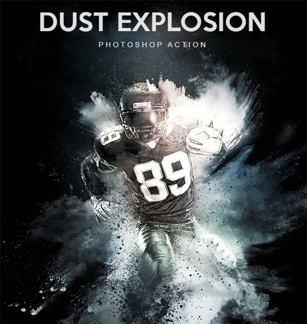 Dust Explosion Photoshop Action