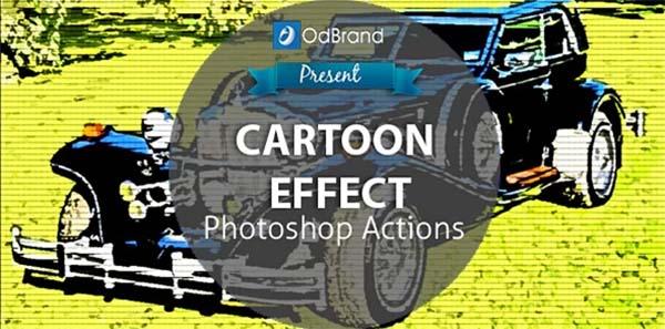 Editable Cartoon Effect Photoshop Action