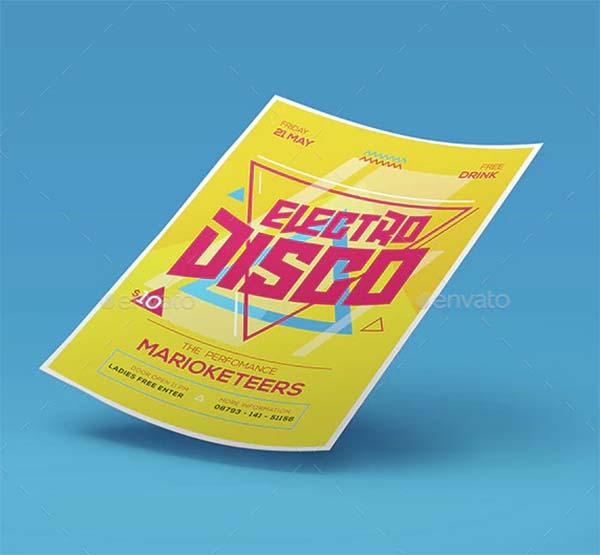 Electro Disco Flyer Template