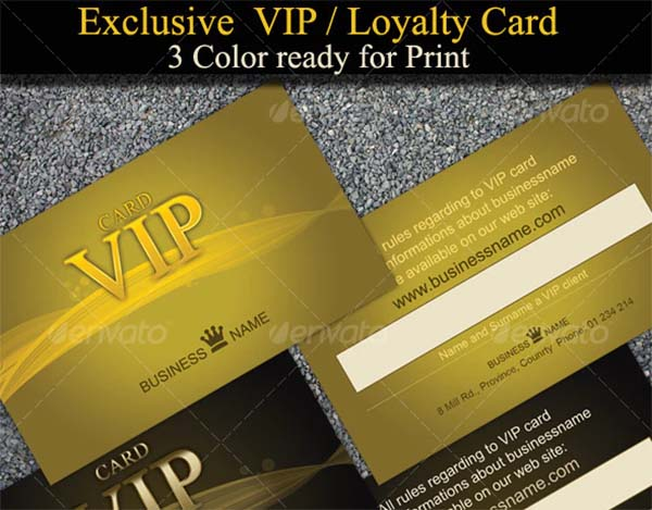 Exclusive and Stylish VIP Loyalty Cards