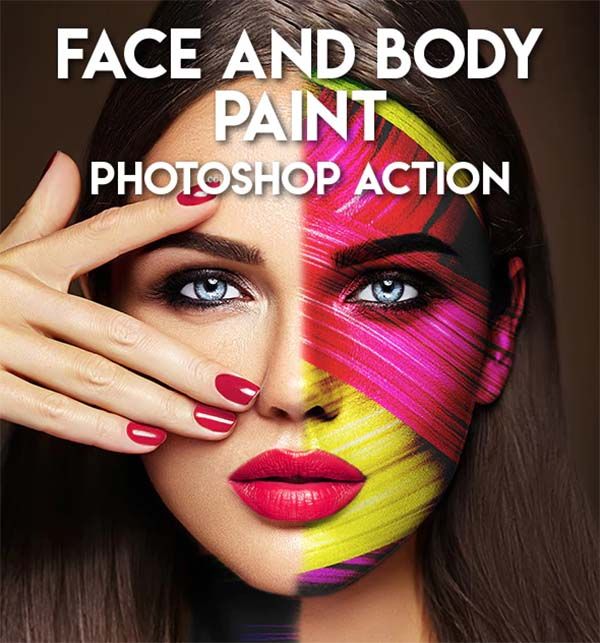 Face and Body Paint Photoshop Action