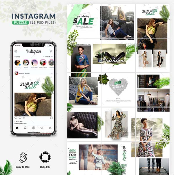 Fashion Branding Instagram Puzzle Template