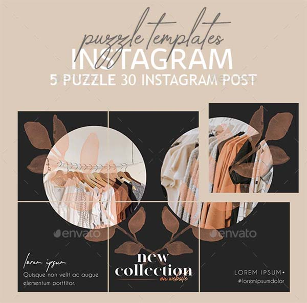 Fashion Instagram Puzzle Templates
