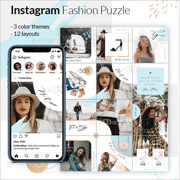 Fashion Puzzle Instagram Posts Promotion