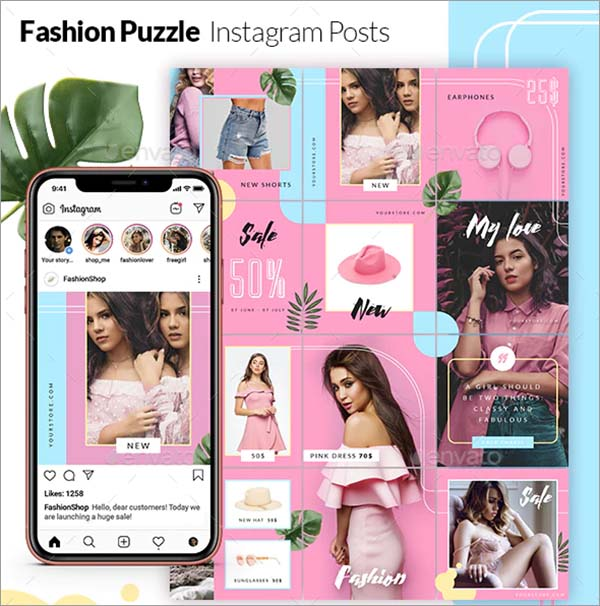 Fashion Puzzle Instagram Posts