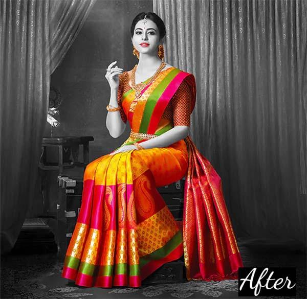 Fashion Selective Area Color Photoshop Action