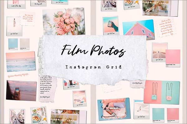 Film Puzzle Instagram Template