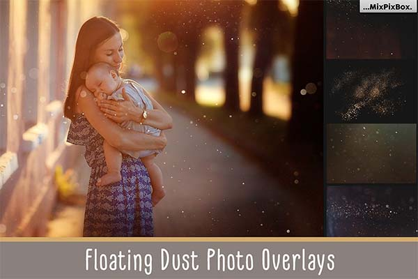 Floating Dust Photo Overlays