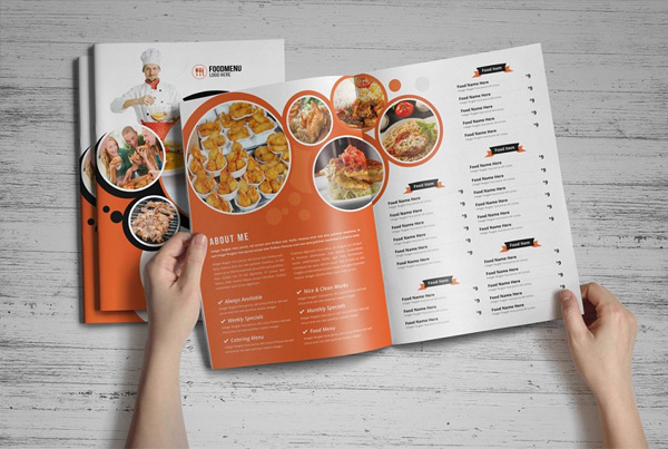 Food Menu Brochure Template