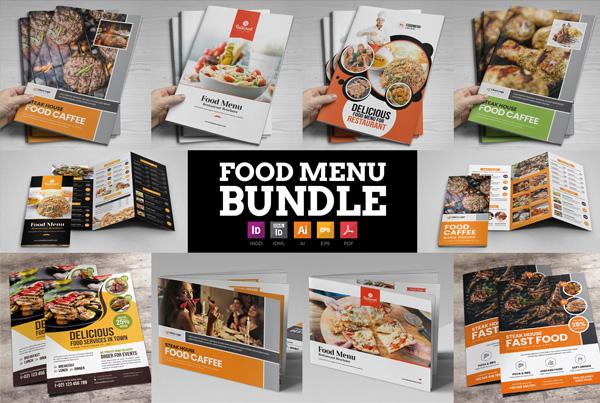 Food Menu Restaurant Brochures Bundle