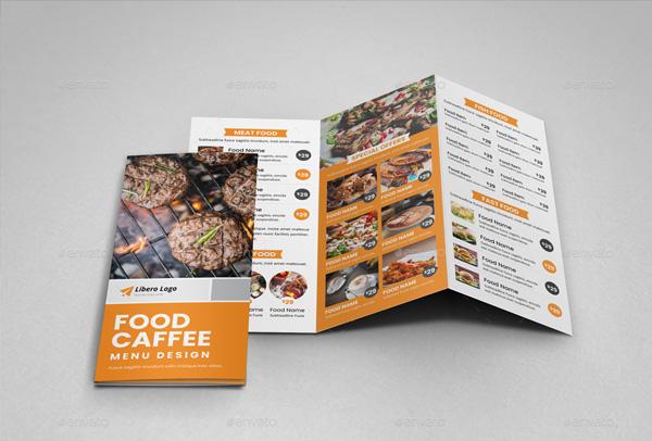 Food Restaurant Trifold Brochure