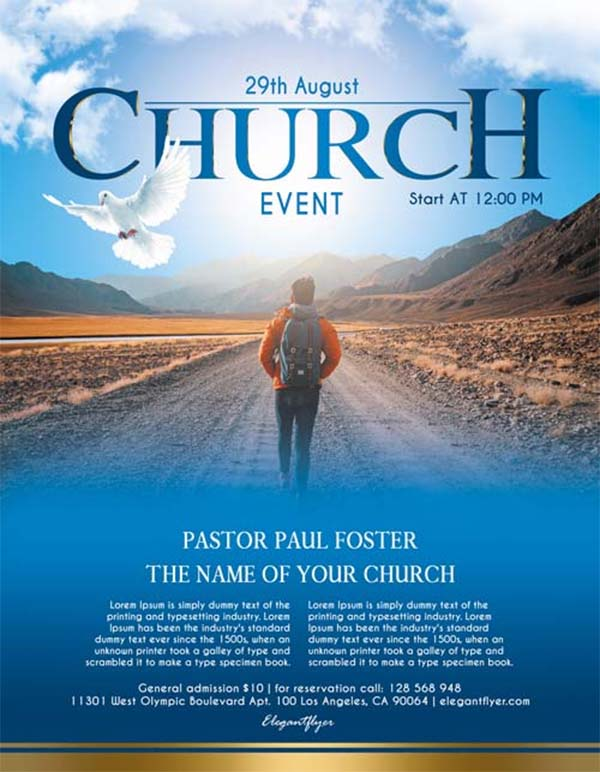 Free Church Event Flyer PSD Template