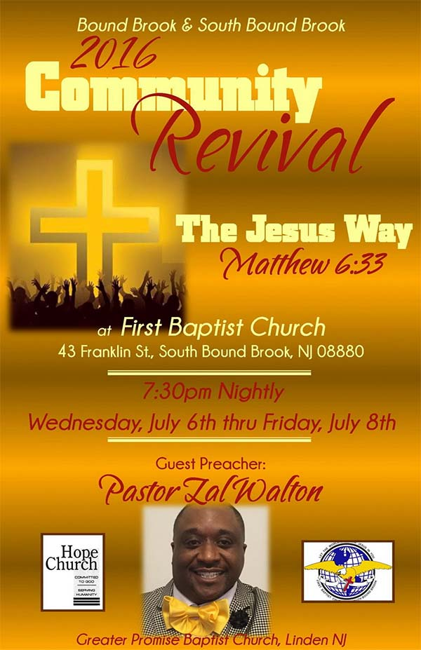 Free Church Revival Flyer Template
